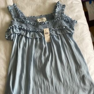 NWT Light Baby Blue Anthropologie Top Size Small